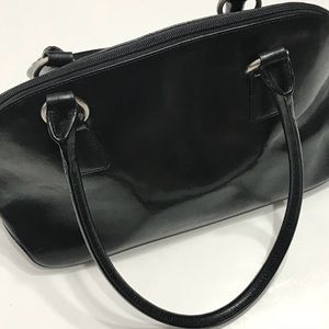Hobo Black Leather Shoulder Bag